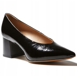 Marco Shoes Eleganckie czarne czółenka damskie z lakieru 5
