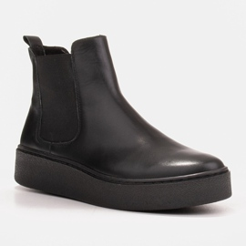 Marco Shoes Niskie trzewiki z miękkiej skóry naturalnej czarne 1