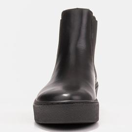 Marco Shoes Niskie trzewiki z miękkiej skóry naturalnej czarne 2