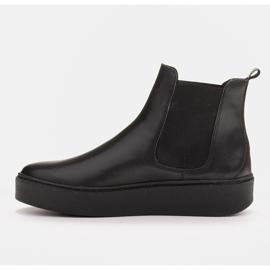 Marco Shoes Niskie trzewiki z miękkiej skóry naturalnej czarne 3