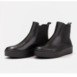 Marco Shoes Niskie trzewiki z miękkiej skóry naturalnej czarne 5