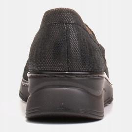 Radoskór Wygodne czarne półbuty damskie na szerszą stopę 6