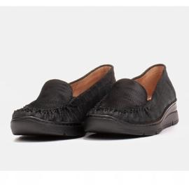 Radoskór Wygodne czarne półbuty damskie na szerszą stopę 7