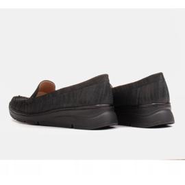 Radoskór Wygodne czarne półbuty damskie na szerszą stopę 8