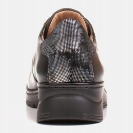 Radoskór Wygodne czarne półbuty damskie na szerszą stopę 4