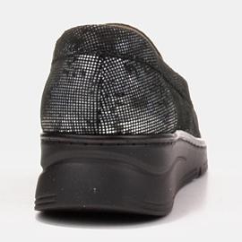 Radoskór Wygodne czarne półbuty damskie na szerszą stopę 3
