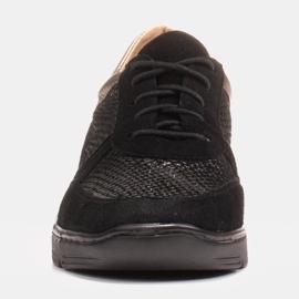 Radoskór Komfortowe półbuty na szerszą stopę na lekkiej podeszwie czarne 1