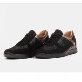 Radoskór Komfortowe półbuty na szerszą stopę na lekkiej podeszwie czarne 3