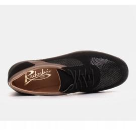 Radoskór Komfortowe półbuty na szerszą stopę na lekkiej podeszwie czarne 6