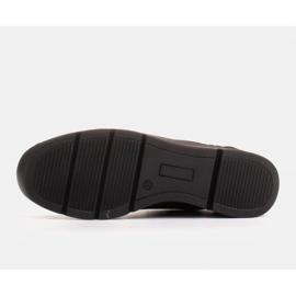 Radoskór Komfortowe półbuty na szerszą stopę na lekkiej podeszwie czarne 7