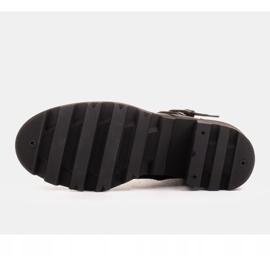 Marco Shoes Czarne botki skórzane na grubej i lekkiej podeszwie 6