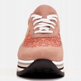 Marco Shoes Sneakersy na grubej podeszwie z siateczką oddychającą różowe 3