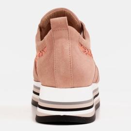 Marco Shoes Sneakersy na grubej podeszwie z siateczką oddychającą różowe 5