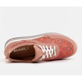 Marco Shoes Sneakersy na grubej podeszwie z siateczką oddychającą różowe 7