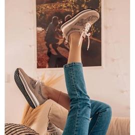 Marco Shoes Sneakersy na grubej podeszwie z siateczką oddychającą beżowy 1