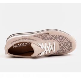 Marco Shoes Sneakersy na grubej podeszwie z siateczką oddychającą beżowy 7