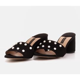 Marco Shoes Klapki damskie Marco z zamszu naturalnego czarne 5