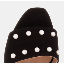 Marco Shoes Klapki damskie Marco z zamszu naturalnego czarne 8