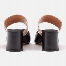 Marco Shoes Eleganckie czółenka damskie na lato czarne złoty 7