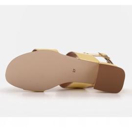 Marco Shoes Sandały Cinta z obcasem powlekanym skórą żółte 8