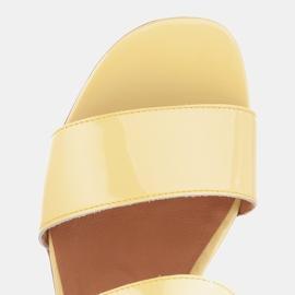 Marco Shoes Sandały Cinta z obcasem powlekanym skórą żółte 9