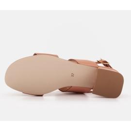 Marco Shoes Sandały Cinta z obcasem powlekanym skórą pomarańczowe 6