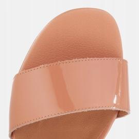 Marco Shoes Sandały Cinta z obcasem powlekanym skórą pomarańczowe 7