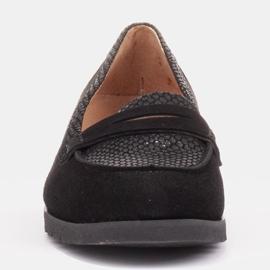 Marco Shoes Lekkie półbuty z bardzo miękkim spodem i ukrytym klinem czarne 2