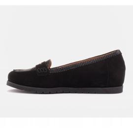 Marco Shoes Lekkie półbuty z bardzo miękkim spodem i ukrytym klinem czarne 3