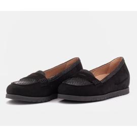 Marco Shoes Lekkie półbuty z bardzo miękkim spodem i ukrytym klinem czarne 4