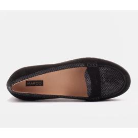 Marco Shoes Lekkie półbuty z bardzo miękkim spodem i ukrytym klinem czarne 5