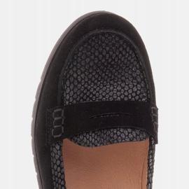 Marco Shoes Lekkie półbuty z bardzo miękkim spodem i ukrytym klinem czarne 7
