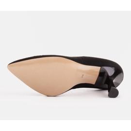 Marco Shoes Szpilki z naturalnego zamszu z ozdobną perforacją czarne 9