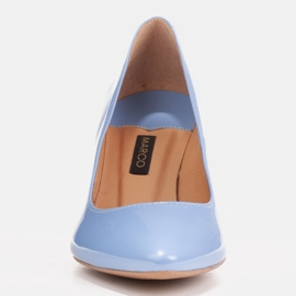 Marco Shoes Eleganckie czółenka z błękitnego lakieru niebieskie 2