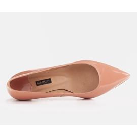 Marco Shoes Eleganckie czółenka na niskim obcasie pomarańczowe 6
