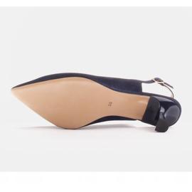 Marco Shoes Czółenka z delikatnego zamszu z paseczkiem granatowe 3