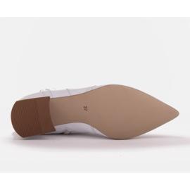 Marco Shoes Plecione botki z rzemykiem białe 6