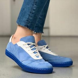 Marco Shoes Sportowe trampki z wysokiej jakości zamszu naturalnego niebieskie 8