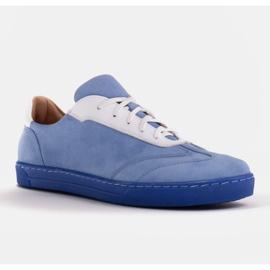 Marco Shoes Sportowe trampki z wysokiej jakości zamszu naturalnego niebieskie 1