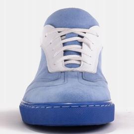Marco Shoes Sportowe trampki z wysokiej jakości zamszu naturalnego niebieskie 2