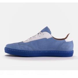 Marco Shoes Sportowe trampki z wysokiej jakości zamszu naturalnego niebieskie 4