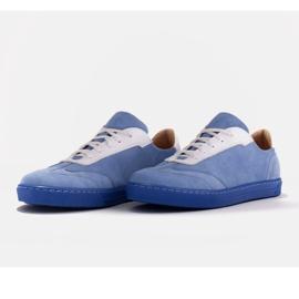 Marco Shoes Sportowe trampki z wysokiej jakości zamszu naturalnego niebieskie 5