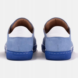 Marco Shoes Sportowe trampki z wysokiej jakości zamszu naturalnego niebieskie 3