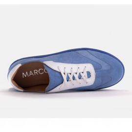 Marco Shoes Sportowe trampki z wysokiej jakości zamszu naturalnego niebieskie 7