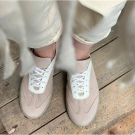 Marco Shoes Sportowe trampki z wysokiej jakości zamszu naturalnego beżowy 8