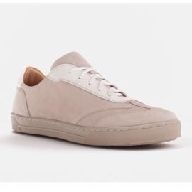 Marco Shoes Sportowe trampki z wysokiej jakości zamszu naturalnego beżowy 1