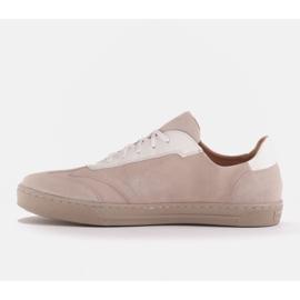Marco Shoes Sportowe trampki z wysokiej jakości zamszu naturalnego beżowy 2
