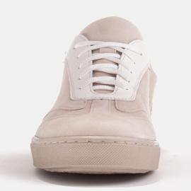 Marco Shoes Sportowe trampki z wysokiej jakości zamszu naturalnego beżowy 3