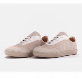 Marco Shoes Sportowe trampki z wysokiej jakości zamszu naturalnego beżowy 4