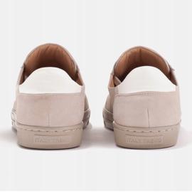 Marco Shoes Sportowe trampki z wysokiej jakości zamszu naturalnego beżowy 6